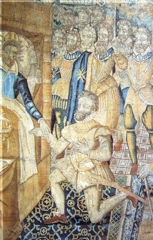 File:Henry III on his deathbed designating Henri de Navarre as his successor.jpg