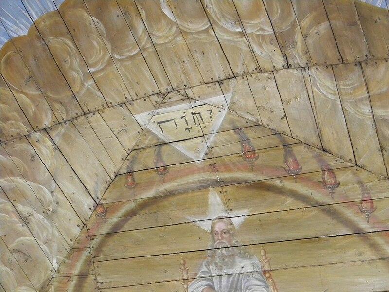 Del av takmålningarna i Kungälvs kyrka.