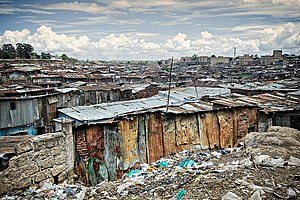 English: A view of the Mathare Valley slum (ph...