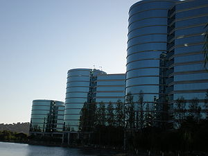 A section of the Oracle Corp. headquarters in ...