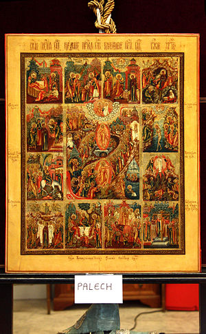 Icon of the Resurrection with scenes from the ...