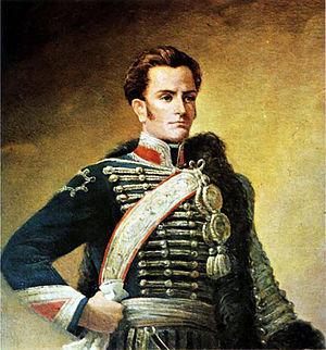 Posthumous portrait of chilean General José Mi...