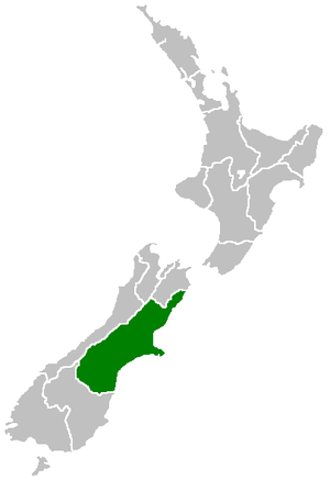Canterbury Region within New Zealand
