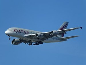 Qatar Airways Airbus A380-861.