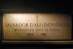 Salvador Dalí Crypt in Dalí Theatre and Museum...