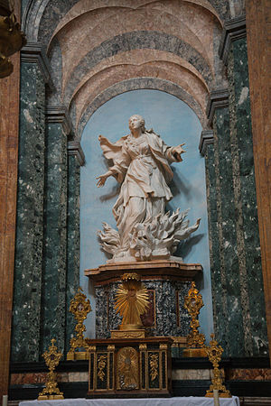 Statue of Saint Agnes in Flames by Ercole Ferrata
