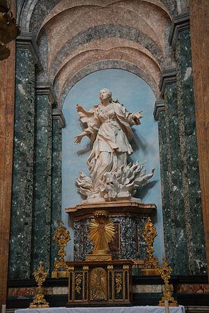 Statue of Saint Agnes in Flames by Ercole Ferrata
