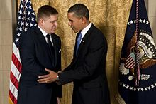 U.S. President Barack Obama meets with Fico in the White House, 12 June 2014