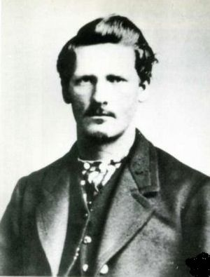 Wyatt Barry Stapp Earp circa 1869, at about ag...