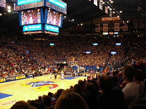 Allen Fieldhouse during the KU Oklahoma State ...