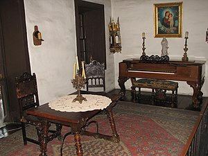 English: Avila Adobe, Olvera Steet, Los Angele...