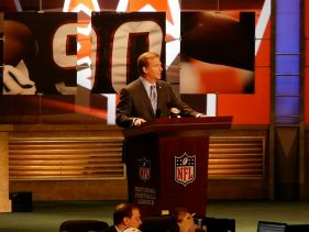 National Football League commissioner Roger Go...