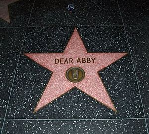 Dear Abby star on the Hollywood Walk of Fame.