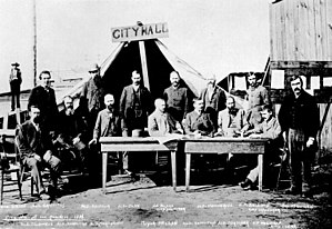 A portrait of the first Vancouver City Council...