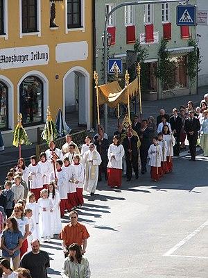 Corpus Christi Day (Fronleichnam) procession i...