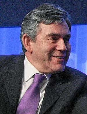 DAVOS/SWITZERLAND, 25JAN08 - Gordon Brown, Pri...