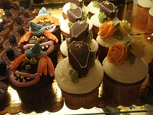 Halloween cupcakes at Union Square Whole Foods.