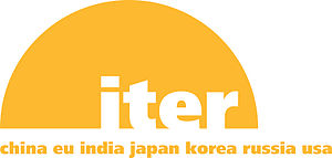 The logo of the ITER Organization