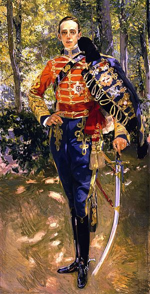 Portrait of King Alfonso XIII in a Hussar's Un...