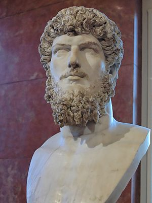 Portrait of Lucius Verus, co-Emperor with Marc...