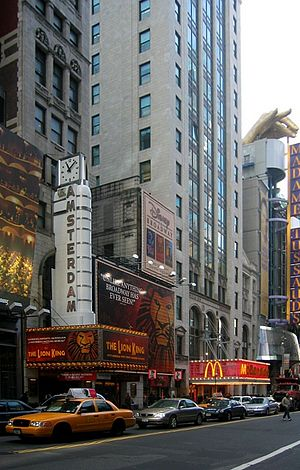 The Lion King at the New Amsterdam Theatre, 2003
