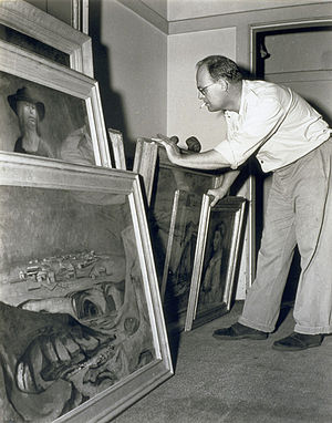 English: Photograph of Australian painter Russ...
