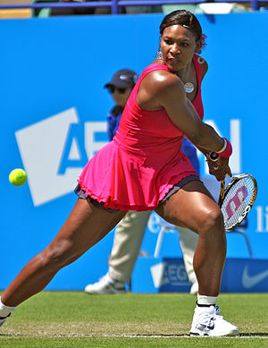 Serena Williams at the 2011 AEGON Internationa...