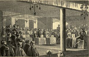 Signing the Treaty of Tientsin, 1858.