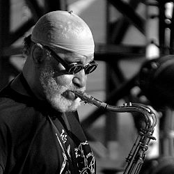 Perugia, Sonny Rollins durante uno dei suoi concerti a Umbria Jazz