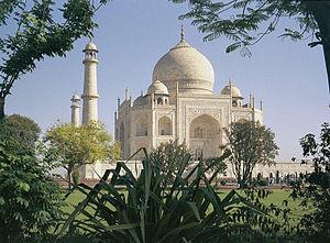 Dansk: Taj Mahal. Billedet er taget på en rejs...