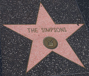 English: The Simpsons star in Hollywood Walk o...