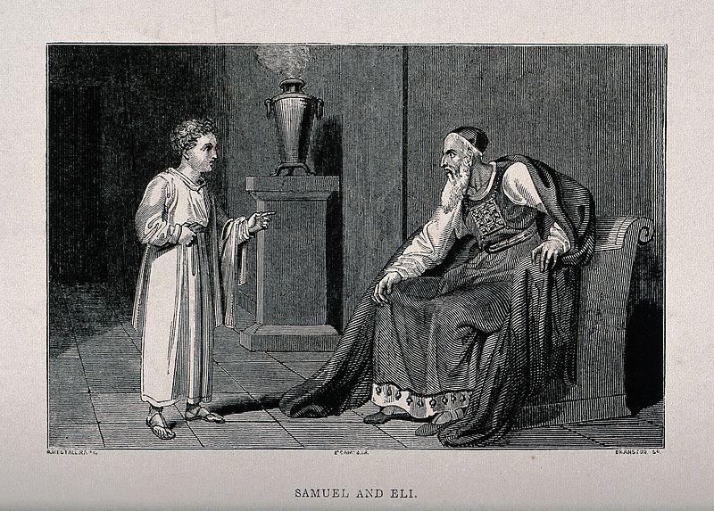 File:The child Samuel tells Eli about God's displeasure with him. Wellcome V0034309.jpg