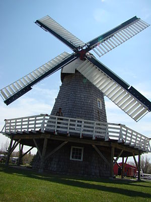 Wind Mill in Mennonite Heritage Village Steinb...