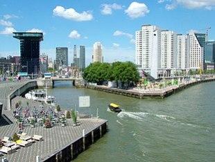 Rotterdam an der Maas, von Süden gesehen