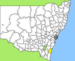 Map of New South Wales/Australia, LGA of Eurob...