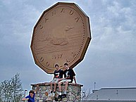 The Big Loonie in Echo Bay, Ontario.
