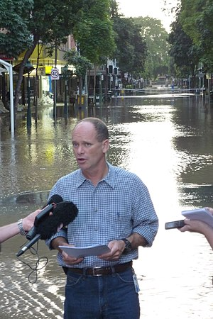 English: Brisbane City Floods. Brisbane Lord M...