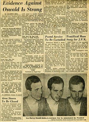 English: Newspaper article on Lee Harvey Oswald