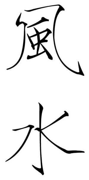 Chinese characters for Feng Shui