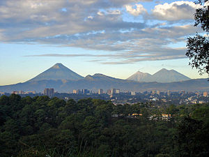 "View of Guatemala City with the ""Agua&quo..."