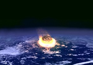 The impact of a meteorite or comet is today wi...