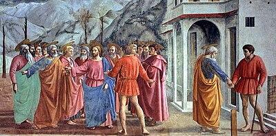 Resultado de imagen para 'El pago del tributo', el pintor Masaccio