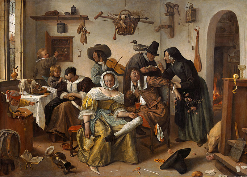 Wikimedia Commons image of Jan Steen's painting,