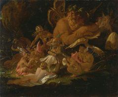 "Joseph Noel Paton - Puck and Fairies, from ""A Midsummer Night's Dream"" - Google Art Project"