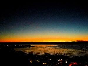 English: Sunset in La Jolla, California Españo...