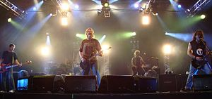The Offspring performing lite in Fortaleza, Br...