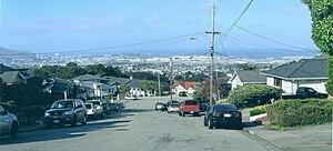 San Bruno, California, panorama, looking towar...