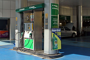 Dual-fuel gas station at Sao Paulo, Brazil. Al...