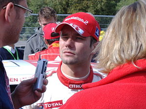 A photo of Sébastien Loeb at the 2005 Wales Ra...