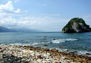 """""""Los archos"""" section of Banderas Bay..."""